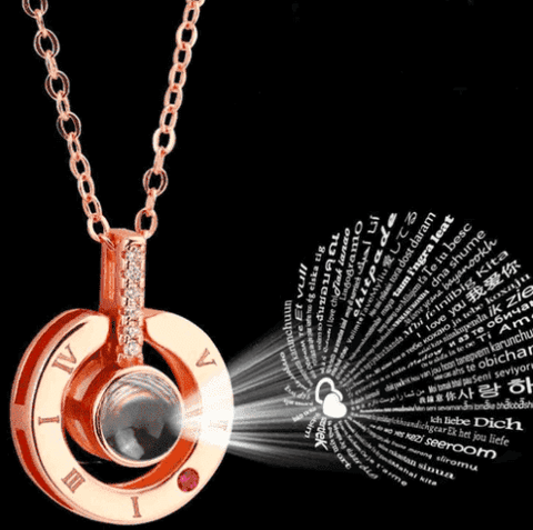 I Love You Projection Pendant Necklace in 100 Languages - Discount Patrol