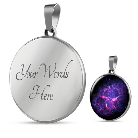 Image of Nebula Crab Space Galaxy Necklace - Discount Patrol