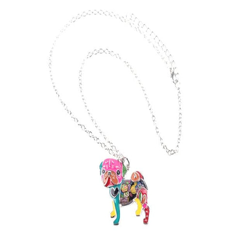 Image of Pug Dog Pendant Necklace