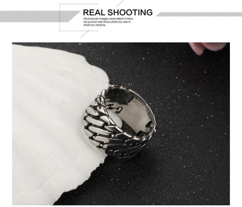 Image of 12MM Width Man Rings Stainless Steel Punk Style - Discount Patrol