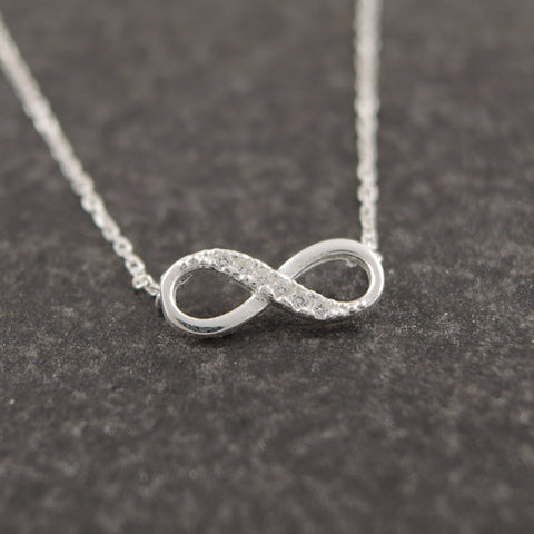 Tiny Infinity Crystal Pendant Necklace - Discount Patrol