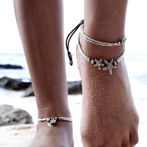 Image of Starfish Summer Beach Anklet