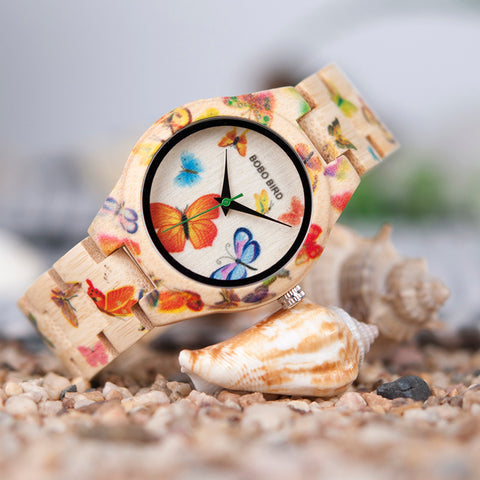 Image of Women's Butterfly Wood Watch - Discount Patrol