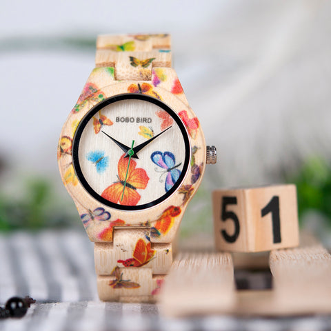 Women's Butterfly Wood Watch - Discount Patrol