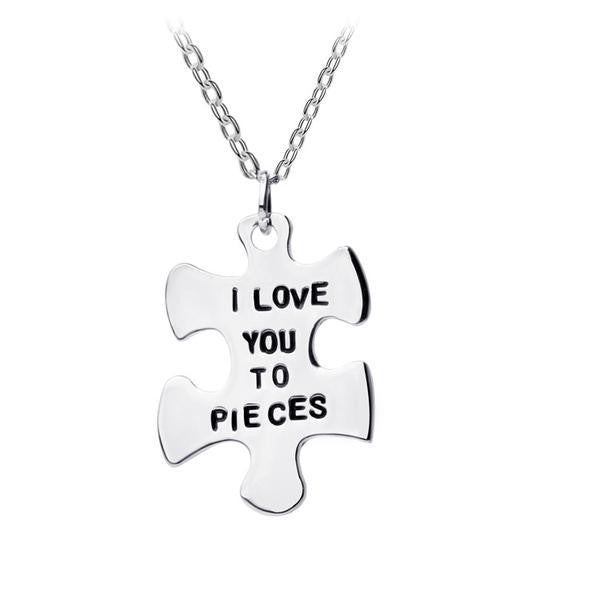 I Love You To Pieces Pendant - Discount Patrol