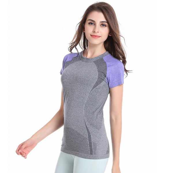 Women's Two Tone Short Sleeve Active T-Shirt | Many Colors