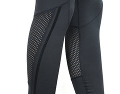 Women's Black Mix Mesh Workout Yoga Pants