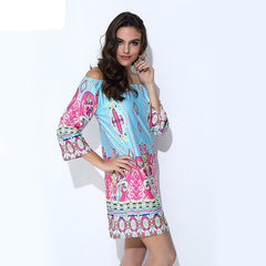 Women's Vintage Print Summer Dress