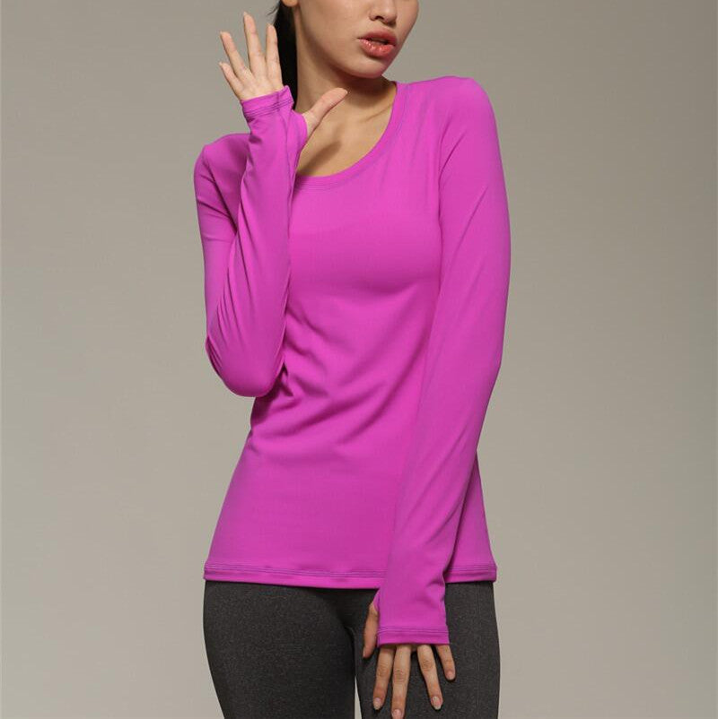 Women's Long Sleeve Small Open Back Active Top