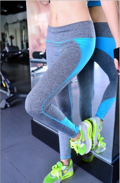 Women's Two Tone with Colored Stitching Active Leggings