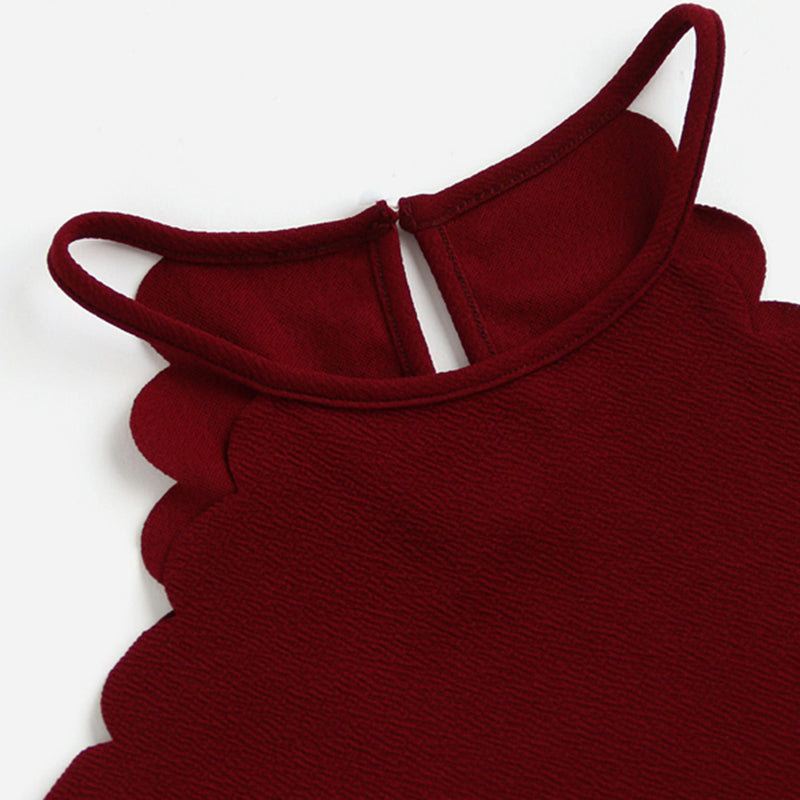 Women's Burgundy Sleeveless Cami Top