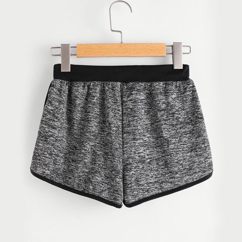 Women's Charcoal Gray Drawstring Casual Shorts