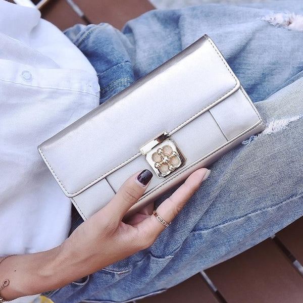 Women's Casual Smooth Long Wallet