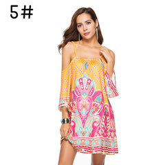 Women's Graphic Print Spaghetti Strap Dress