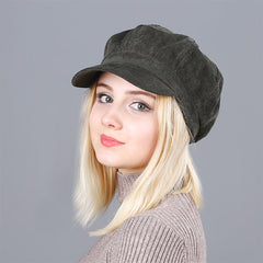 Women's Ripple Texture Newsboy Cap