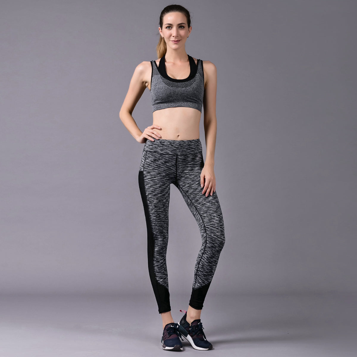 Women's Two Tone Noise/Black Yoga Pants