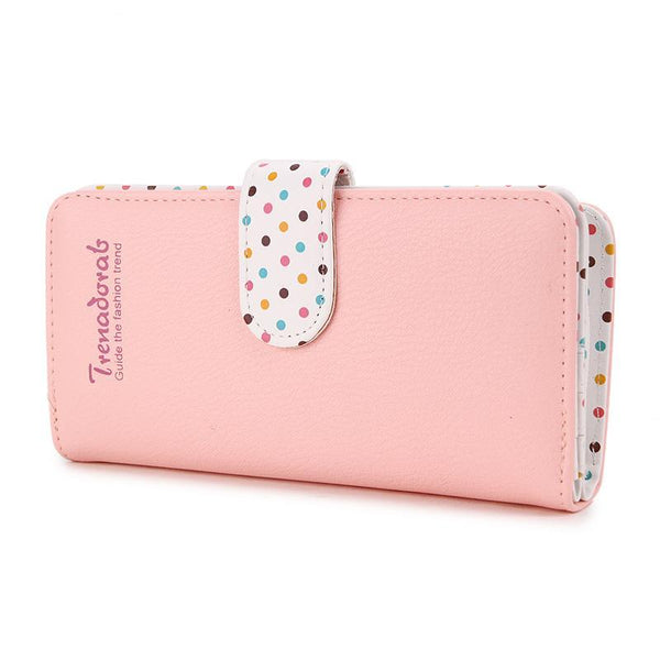 Women's Dotted Pattern Long Wallet