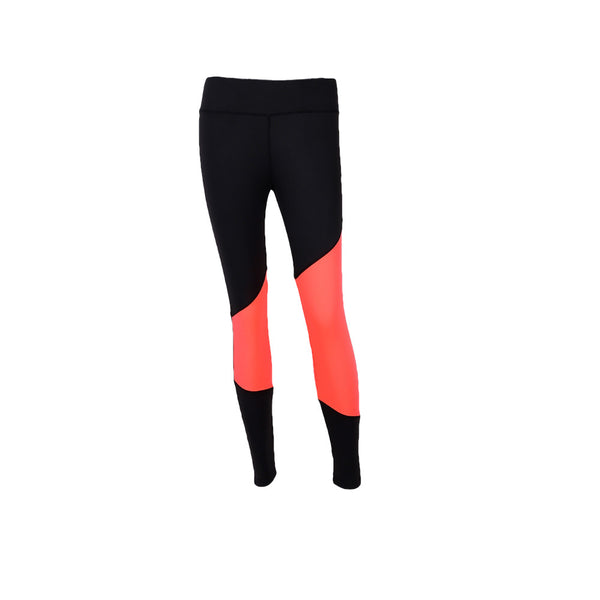 Women's Pink Angled Strip Active Leggings