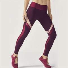 Women's Ribbon Ruby Red Active Leggings