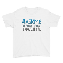 Before You Touch Me T-Shirt (Boys/Blue Letters)