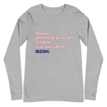 Kamala Harris - Howard University Bison Long Sleeve T-Shirt (Unisex)