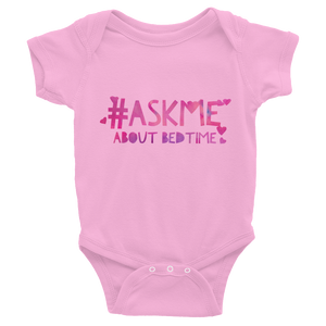 About Bedtime Onesie (Purple Letters)