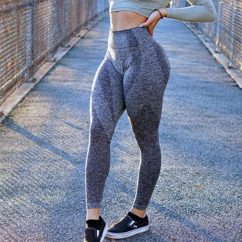 Thrive Slate Grey Leggings - The Omega Fitness Workout Apparel
