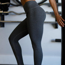 Load image into Gallery viewer, Queen's Reign Gunmetal Grey Leggings - High Waisted Gym Leggings