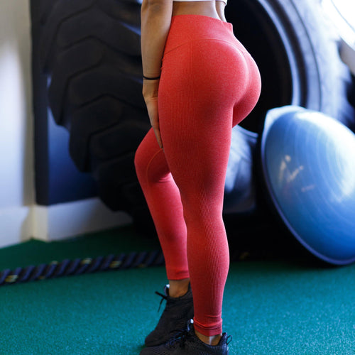 Queen's Reign Coral Leggings - The Omega Fitness Workout Apparel