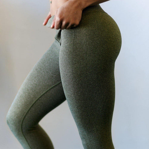 Queen's Reign Army Green Leggings - High Waisted Workout Leggings