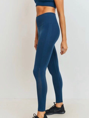 """Rise"" Seamless Legging  - (Teal Blue)"
