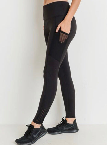 Origami Legging - (Black)