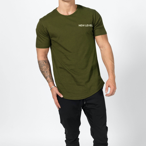 New Level Premium Scallop Tee - (Olive)