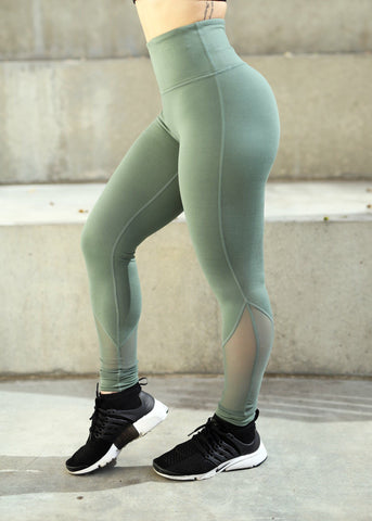 Ease Legging - (Olive)