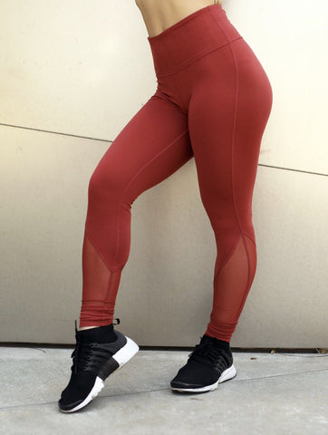 Ease Legging - (Fire Red)