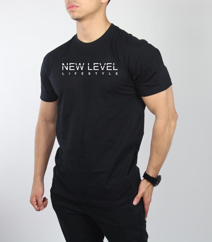 "New Level ""Signature Lifestyle Tee"" (Black/White) PRE ORDER"
