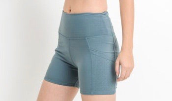 "New Level ""Active"" Shorts  - (Light Teal)"