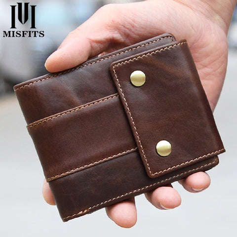 Luxury Brand Men Wallets Genuine Leather