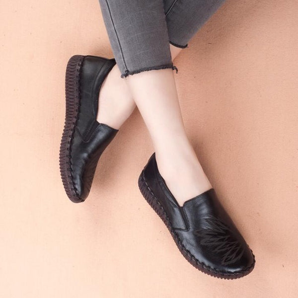 Women Genuine Leather Loafers