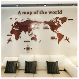 World map Acrylic 3D solid crystal decoration