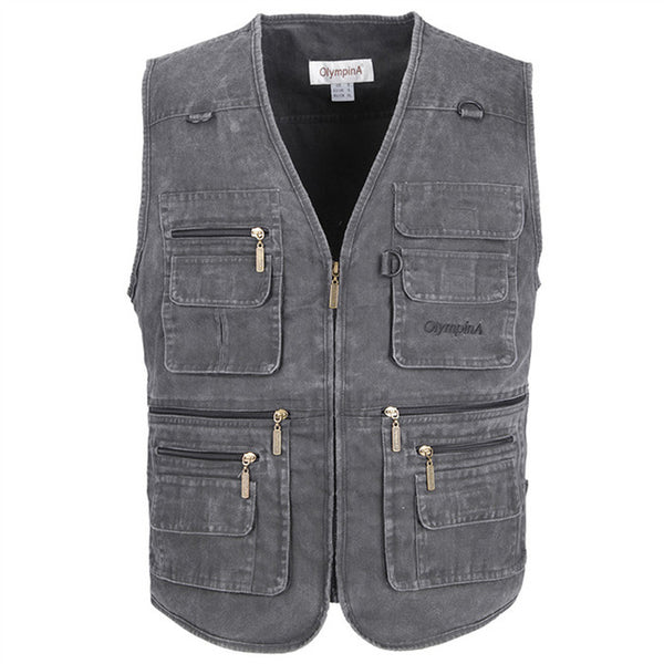 Big Size Fishing Vest Male With Many Pockets
