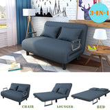 Convertible Sofa Bed Folding & Down Recliner Couch