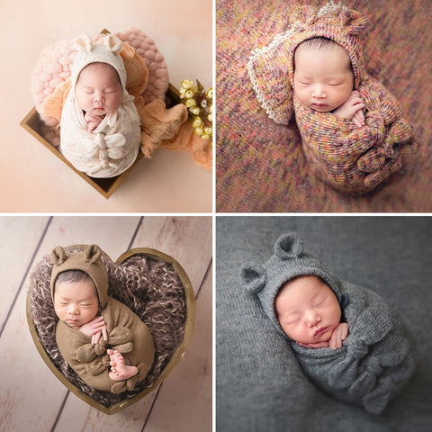 Baby Posing Pillow Hat Bonnet Wraps