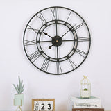Nordic Metal Roman Numeral Wall Clocks