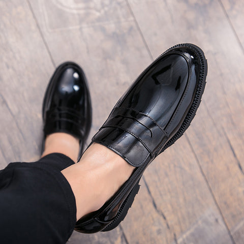Black Patent leather Men Loafers