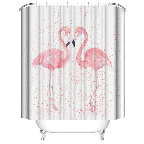 Flamingo Shower Curtain Animal Print
