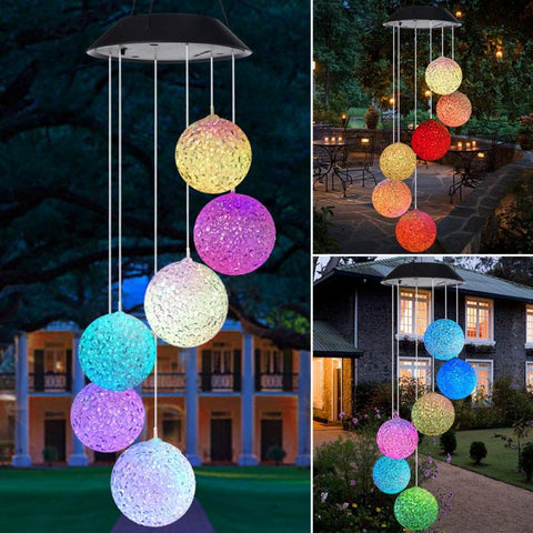 2020 Solar Powered LED Wind Chime