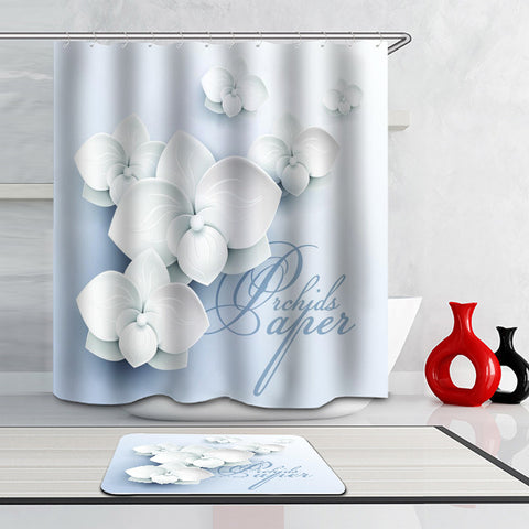 Bathroom Curtains Accessories-3D,Pure Color