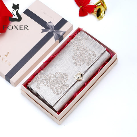 FOXER Brand Women's Leather Wallet