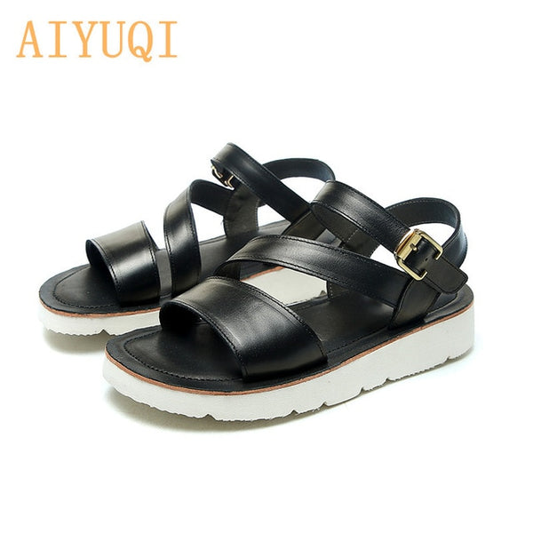 New Genuine Leather Student Sandals